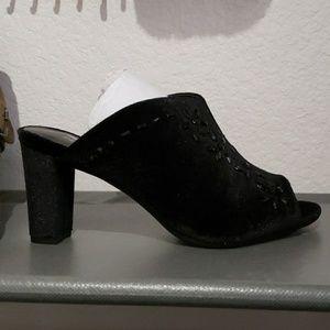 Aerosoles dress slip on peep toe heels